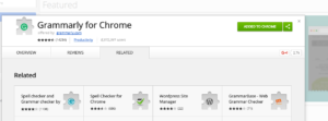 Grammarly for Chrome confirmation