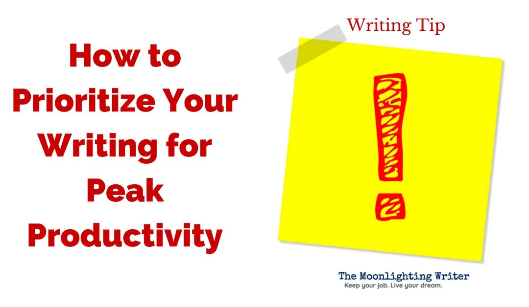 Prioritize for More Productive Writing — Quick Writing Tip