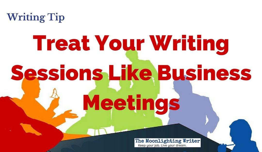 Writing Time Is Business Meeting