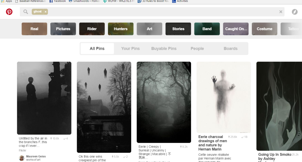 Pinterest Ghost Search