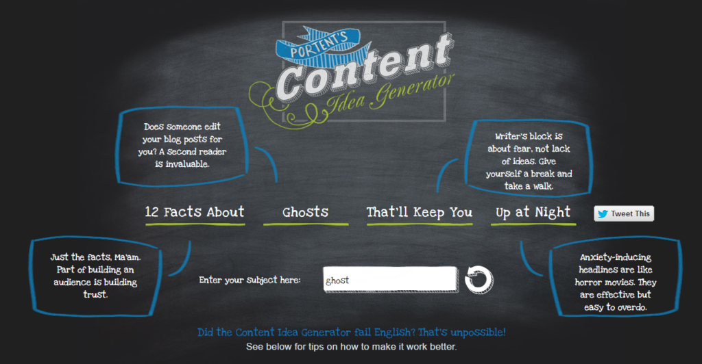 How to exploit 25 unusual websites for awesome story ideas for Portent idea