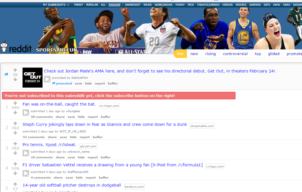 Reddit Sports are Fun