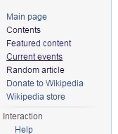 Wikipedia Current Events